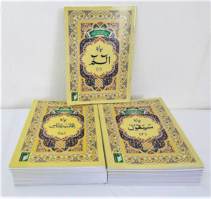 Holy Quran 30 Para (Juz) Set - Uthmani 9 Lines (Large Size 24x17cm)