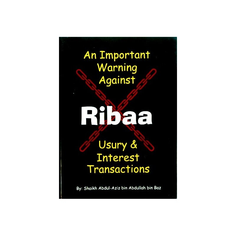 Important Warning Against Ribaa: Usury and Interest (PB Darussalam)