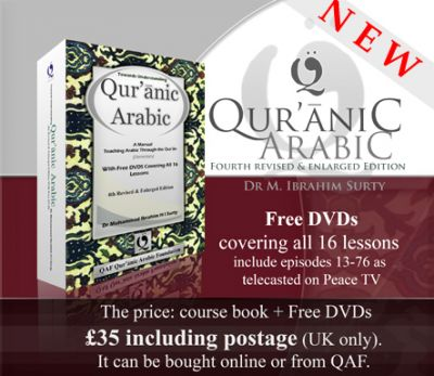 Towards Understanding Qur'anic Arabic