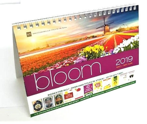 IDCI FLOWER IMAGES CALENDAR 2019: Islamic Hijri and Gregorian Desktop Calendar 2019