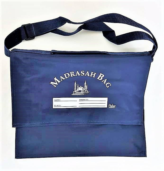 Strong Madrasah Bag for Kids / Children - (Large 37x32CM) (MB8NB Navy)