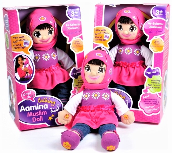 English/Arabic Speaking Muslim Doll Aamina - Talking Islamic Toy (Desi Doll)