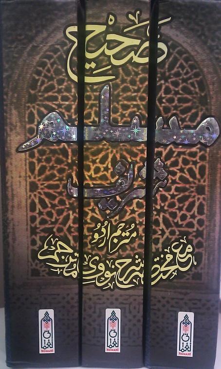 Sahih Muslim Shareef (3 Volumes) Kay Saath Mukhtasar Sharh An-Nawawi