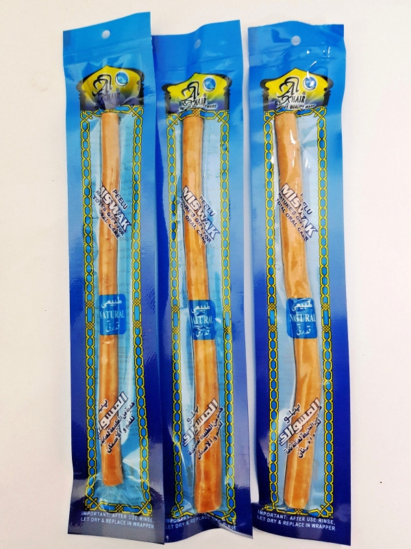 3 Pack Miswak: Natural Toothbrush Stick - (Siwak - Peelu - Chewing Stick)