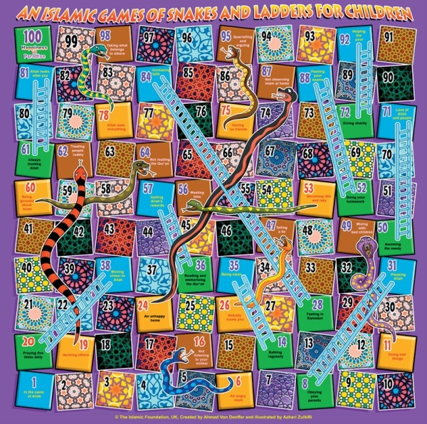 An Islamic Game of Snakes and Ladders for Children