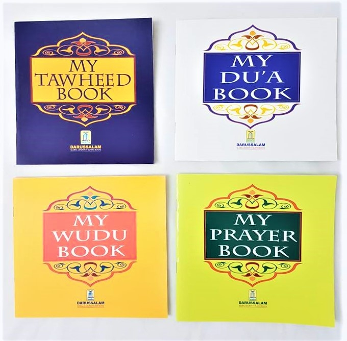 My Prayer Book / My Wudu Book / My Dua Book / My Tawheed Book (Set of 4)