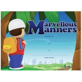 Marvellous Manners (25 certificate Pack - A4 Size)
