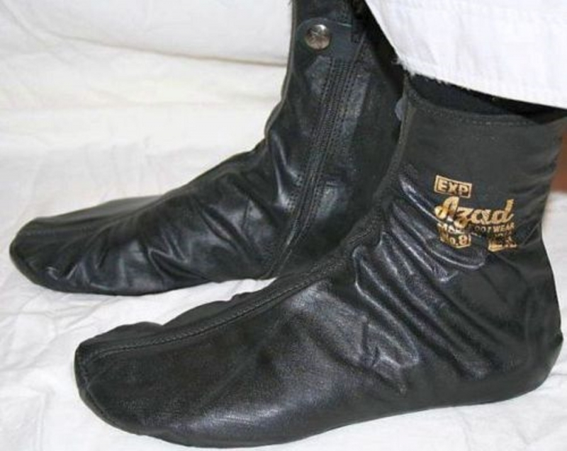 Azad Leather Zipper Socks / Khuffs / Footwear (Size 8)