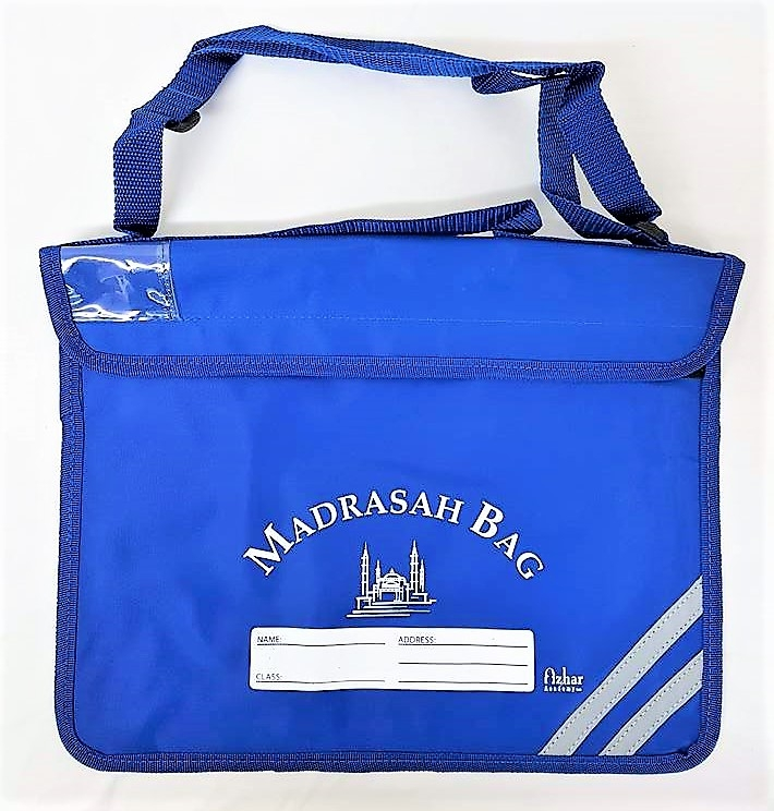 Durable Madrasah Bag for Kids / Children - (31x39CM) (MB4LB Blue)