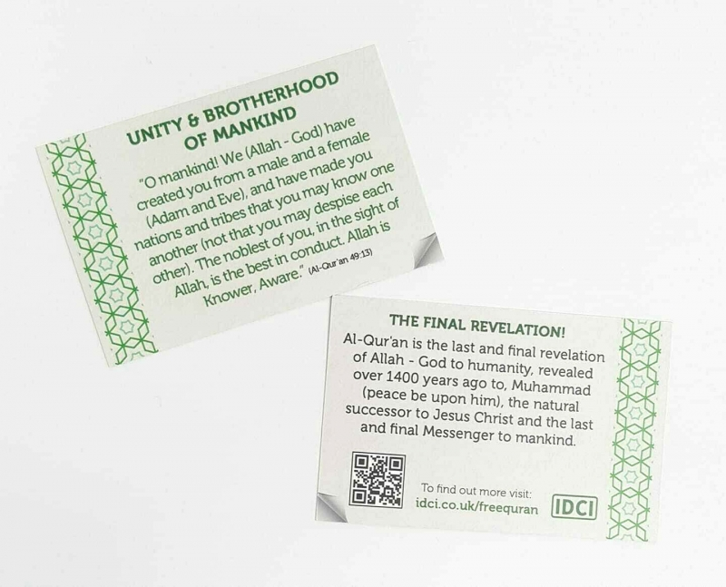 GIVING DAWAH Made Easy with the IDCI Dawah Cards x 199