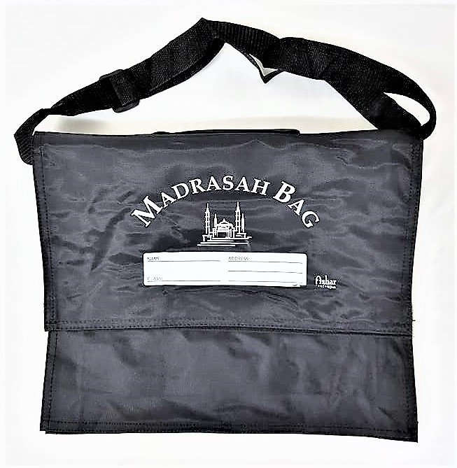 Strong Madrasah Bag for Kids / Children - (37x32CM) (MB5LB Large Black)