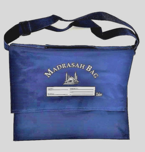 Strong Madrasah Bag for Kids / Children - (Small 29x25cm) (MB9SNB Navy)