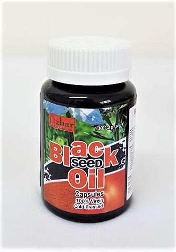 100% Cold Pressed Black Seed Oil Capsules (100 Capsules) (Kalwanji Nigella)